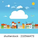 vacation travelling concept.... | Shutterstock .eps vector #210566473