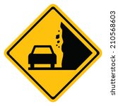 Falling Rocks Warning Sign