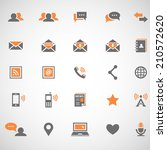 communication icons | Shutterstock .eps vector #210572620
