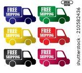 vector free shipping colorful... | Shutterstock .eps vector #210582436