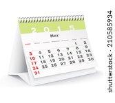 May 2015 Desk Calendar   Vecto...