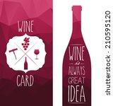 polygon vector burgundy... | Shutterstock .eps vector #210595120