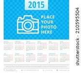 calendar 2015 vector design...   Shutterstock .eps vector #210595504