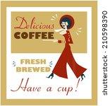vintage food   drink poster... | Shutterstock .eps vector #210598390