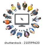 group of multiethnic people... | Shutterstock . vector #210599620