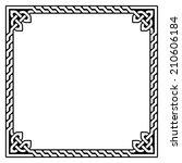 celtic frame  border pattern  ... | Shutterstock .eps vector #210606184
