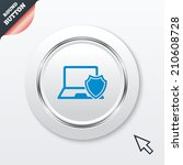 laptop protection sign icon....