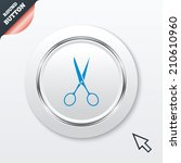 scissors hairdresser sign icon. ...