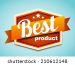 best product badge | Shutterstock .eps vector #210612148