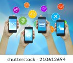 technology communication. | Shutterstock . vector #210612694
