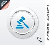 auction hammer icon. law judge...