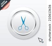 scissors hairdresser sign icon. ...