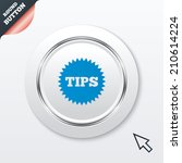 tips sign icon. star symbol....