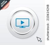 widescreen tv mode sign icon....