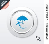 flight insurance sign icon....