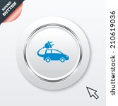 electric car sign icon....