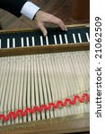 Small photo of a musical instrument Virginals, aslo more known Harpsichord