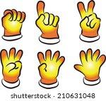 vector glove and numbers | Shutterstock .eps vector #210631048