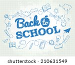 back to school poster with... | Shutterstock .eps vector #210631549