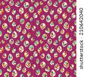 seamless pattern with colored... | Shutterstock .eps vector #210642040