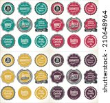 high quality labels collection   Shutterstock .eps vector #210648964