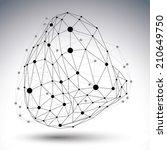3d vector abstract technology... | Shutterstock .eps vector #210649750
