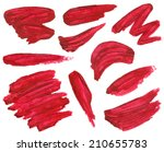 vector paint brush strokes | Shutterstock .eps vector #210655783