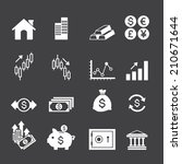 financial investment icons | Shutterstock .eps vector #210671644