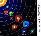 planet of solar system. vector... | Shutterstock .eps vector #210676366