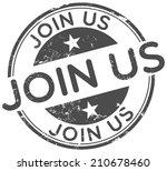 join us stamp | Shutterstock .eps vector #210678460
