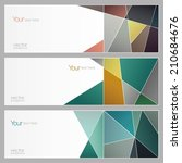 set of three banners  abstract  ... | Shutterstock .eps vector #210684676