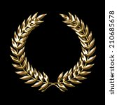 Golden Laurel Wreath Symbol...