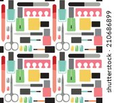 nail beauty and care vector... | Shutterstock .eps vector #210686899