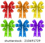 ilustration of a set of ribbons | Shutterstock .eps vector #210691729