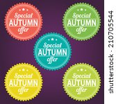 special autumn offer | Shutterstock .eps vector #210705544