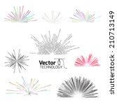 tech line explosion   Shutterstock .eps vector #210713149