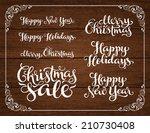 vector holidays inscription on... | Shutterstock .eps vector #210730408