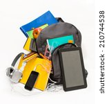 school backpack with school... | Shutterstock . vector #210744538
