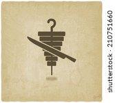 doner kebab old background  ... | Shutterstock .eps vector #210751660