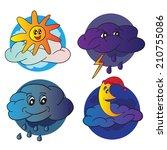weather icons design   vector... | Shutterstock .eps vector #210755086