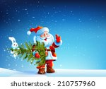 santa claus standing in the... | Shutterstock .eps vector #210757960