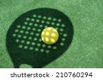 paddle tennis racket shadow on... | Shutterstock . vector #210760294