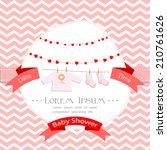 baby shower invitation for girl.... | Shutterstock .eps vector #210761626