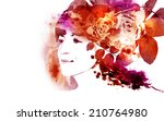 young woman  | Shutterstock . vector #210764980