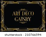 gatsby art deco background | Shutterstock .eps vector #210766594