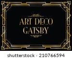 gatsby art deco background | Shutterstock vector #210766594