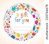 birthday gift tag | Shutterstock .eps vector #210766678