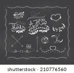 chalkboard doodle frame | Shutterstock .eps vector #210776560