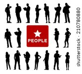 vector of diverse business...   Shutterstock .eps vector #210780880