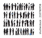 silhouettes of business people... | Shutterstock .eps vector #210780958